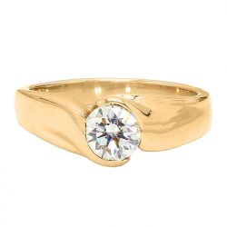 SOLITAIRE DIAMOND ENGAGEMENT RING- 14K YELLOW GOLD| 6.3G| 0.92CT TDW| SIZE 8""