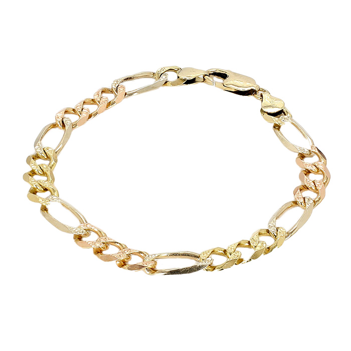 FIGARO BRACELET- 14K YELLOW GOLD| 15.0G| LENGTH 8.50""