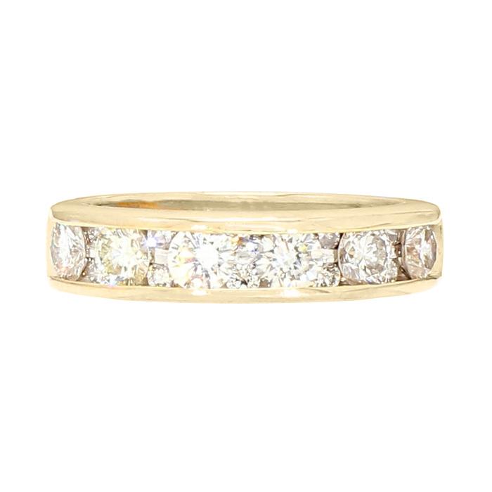 "DIAMOND WEDDING BAND- 14K YELLOW GOLD| 4.4G| 1.01CT TDW| SIZE 5"""