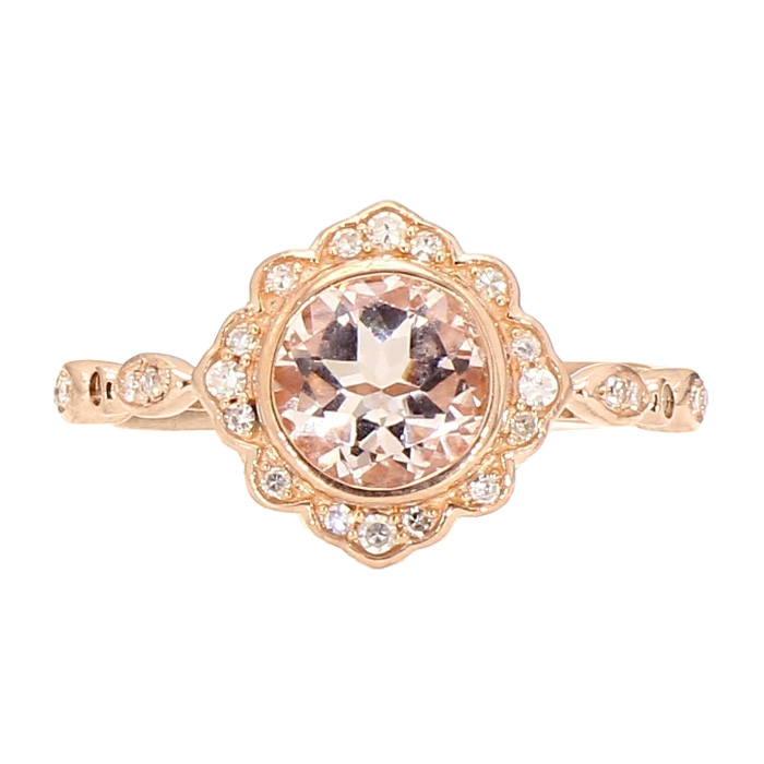 ENGAGEMENT RING- 10K ROSE GOLD| 2.9G| SIZE 7""