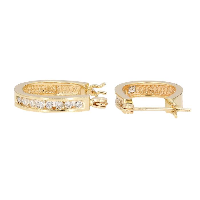 DIAMOND HOOP EARRINGS- 14K YELLOW GOLD| 2.9G