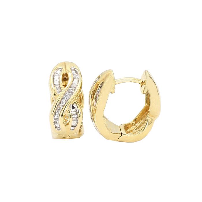 DIAMOND EARRINGS- 14K YELLOW GOLD| 5.6G| 0.25CT TDW