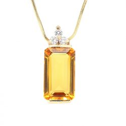 """14K YELLOW GOLD NECKLACE & EARRING SET