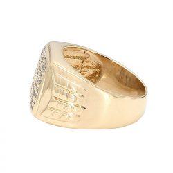 "MENS DIAMOND RING- 10K GOLD| 8.7G| SIZE 7"""