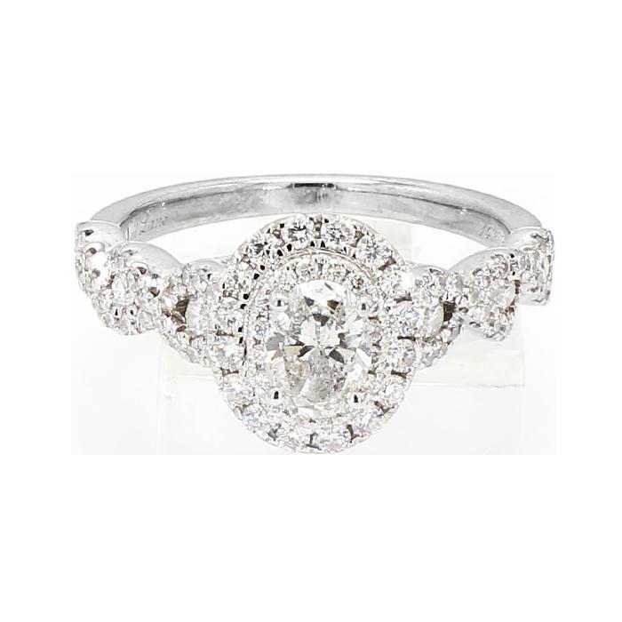 Neil Lane Diamond Engagement Ring 14k White Gold 4 4g 0 55ct C 1 50ct Tdw Size 6 75 Wmje