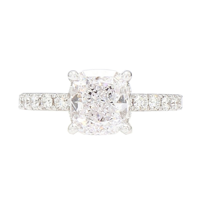 """GIA CERTIFIED SOLITAIRE DIAMOND ENGAGEMENT RING- 14K WHITE GOLD