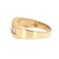 "MENS DIAMOND BAND- 14K GOLD| 5.8G| 0.50CT TDW| SIZE 8.50"""