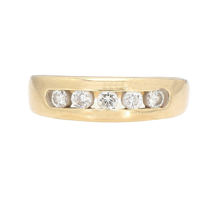 MENS DIAMOND WEDDING BAND- 14K GOLD| 6.2G| 0.50CT TDW| SIZE 10.25""