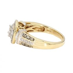 "DIAMOND ENGAGEMENT RING- 10K GOLD| 4.1G| 1.00CT TDW| SIZE 6.25"""