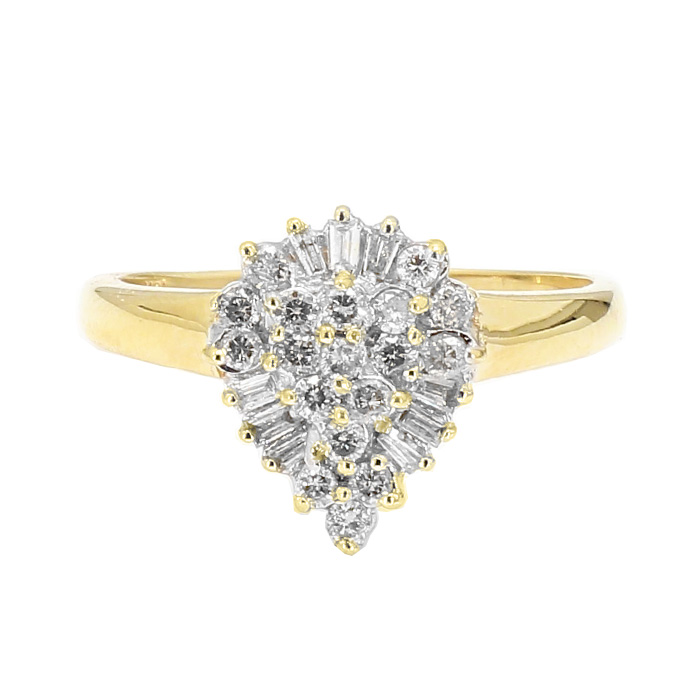 DIAMOND RING- 10K GOLD| 2.9G| 0.50CT TDW| SIZE 8.75""