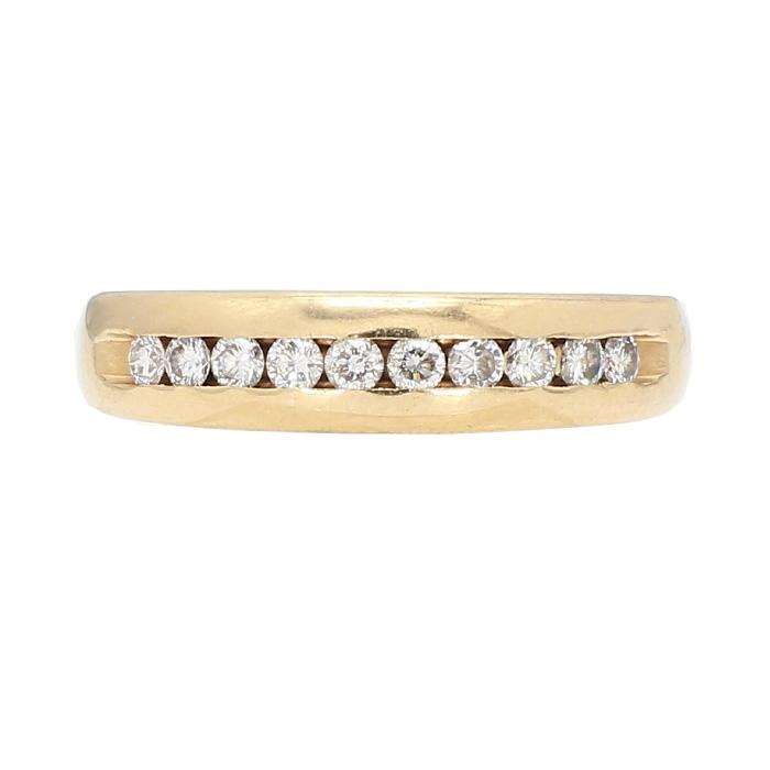 "MENS DIAMOND WEDDING BAND- 14K GOLD| 5.4G| SIZE 10.75"""