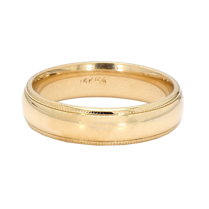 "MENS WEDDING BAND- 14K GOLD| 7.3G| SIZE 10"""