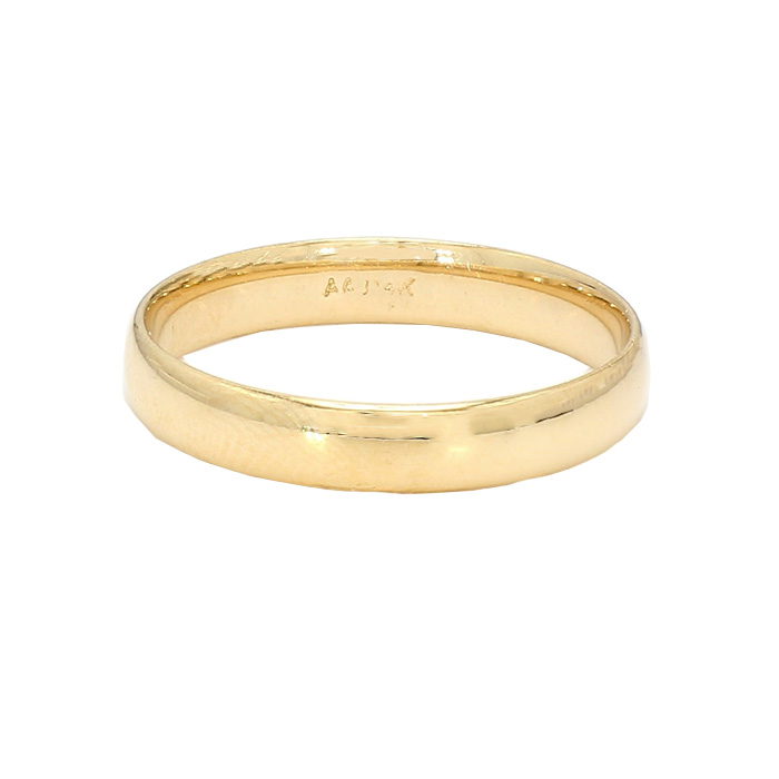 MENS GOLD BAND- 14K GOLD| 3.1G| SIZE 10""
