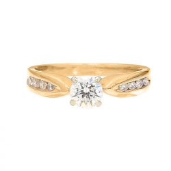 """IGI CERTIFIED SOLITAIRE DIAMOND ENGAGEMENT RING- 14K GOLD