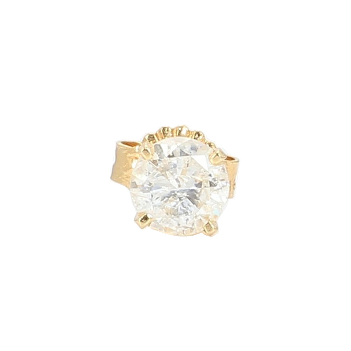 SINGLE STUD DIAMOND EARRING- 14K YELLOW GOLD| 0.55CT TDW| COLOR H| CLARITY SI2