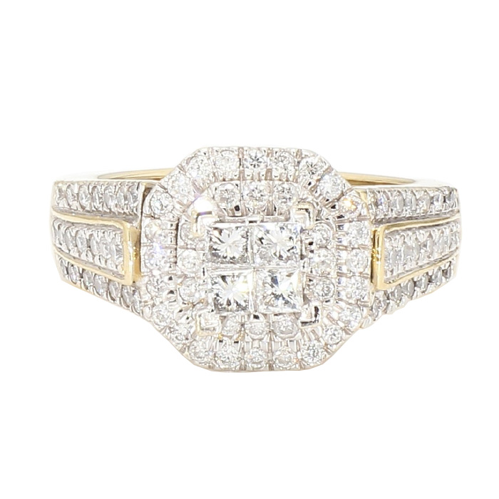 DIAMOND ENGAGEMENT RING- 14K YELLOW GOLD| 2.00CT TDW| SIZE 7.25""