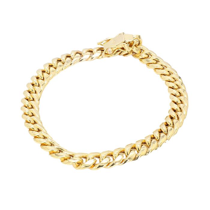 "CURB BRACELET- 10K GOLD| 8.8G| LENGTH 7.50""| WIDTH 6.75"""
