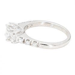 LEO CERTIFIED DIAMOND ENGAGEMENT RING- 14K GOLD| 1.06CT TDW| SIZE 7""