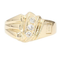 """MENS GM RING- 14K YELLOW GOLD