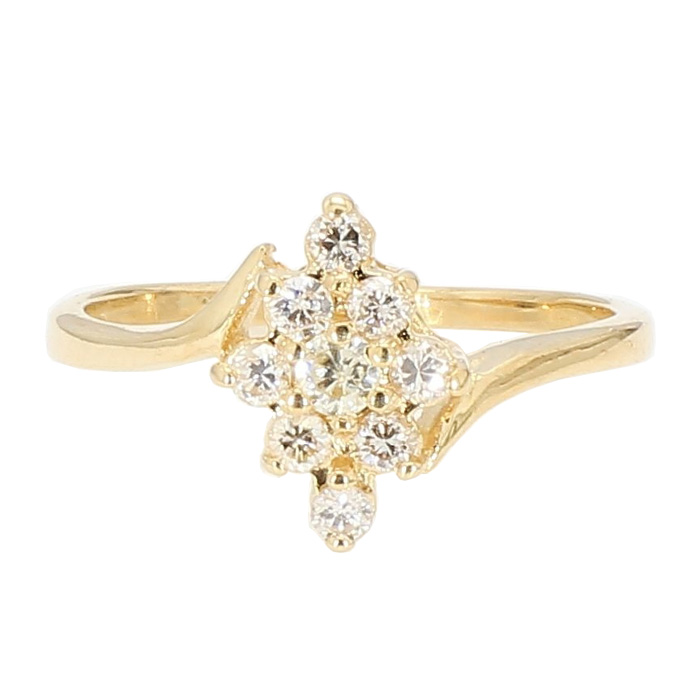 DIAMOND RING- 14K YELLOW GOLD| 0.25CT TDW| SIZE 6.50""