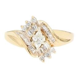 "DIAMOND ENGAGEMENT RING- 14K YELLOW GOLD| 0.50CT TDW| SIZE 9"""