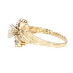 "DIAMOND ENGAGEMENT RING- 14K YELLOW GOLD  0.50CT TDW  SIZE 9"""