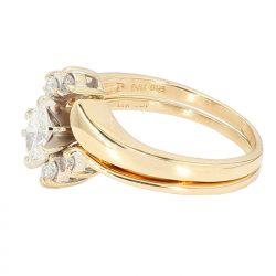 "DIAMOND BRIDAL SET- 14K YELLOW GOLD| 0.50CT TDW| SIZE 7"""