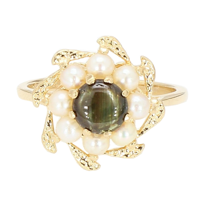 COCTAIL RING- 14K YELLOW GOLD| 3.6G| SIZE 5.75""