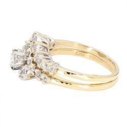 "DIAMOND BRIDAL SET- 14K YELLOW GOLD| 6.1G| 1.00CT TDW| SIZE 8"""