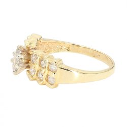 "DIAMOND ENGAGEMENT RING- 14K YELLOW GOLD| 4.1G| 1.00CT TDW| SIZE 8.50"""