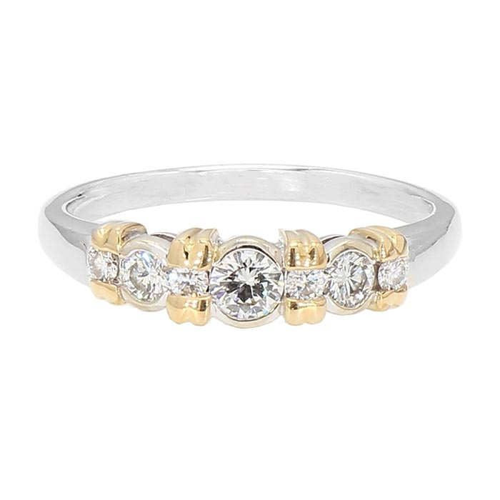DIAMOND ENGAGEMENT RING- 14K GOLD| 4.2G| 0.75CT TDW| SIZE 9.25""
