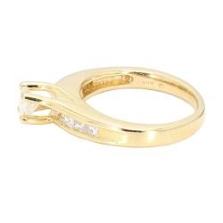 "DIAMOND ENGAGEMENT RING- 14K YELLOW GOLD| 1.00CT TDW| SIZE 4.75"""