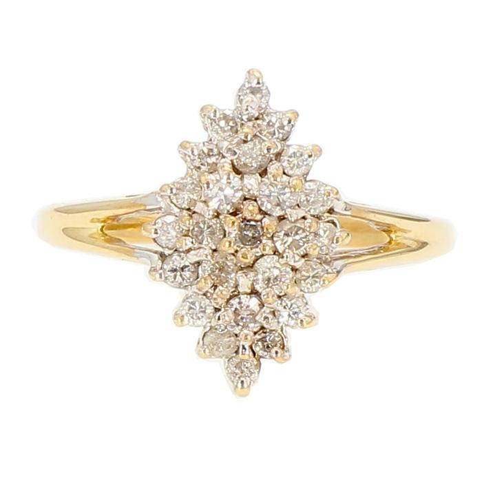 "DIAMOND RING- 10K YELLOW GOLD| 2.8G| 0.50CT TDW| SIZE 7.50"""