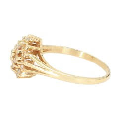 "DIAMOND RING- 14K YELLOW GOLD  SIZE 7.25"""