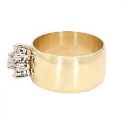 "DIAMOND RING- 14K YELLOW GOLD| 7.9G| 0.50CT TDW| SIZE 7.25"""