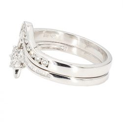 DIAMOND BRIDAL SET- 10K WHITE GOLD| 0.60CT TDW| SIZE 8.25""