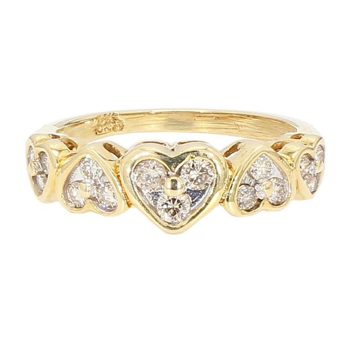 "DIAMOND RING- 14K YELLOW GOLD| 0.25CT TDW| SIZE 5.75"""