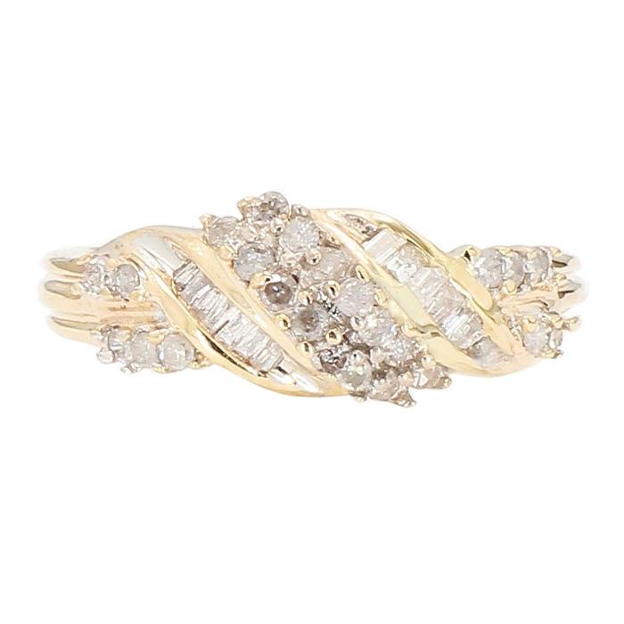 "DIAMOND RING- 10K YELLOW GOLD| 0.40CT TDW| SIZE 10"""