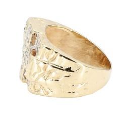 "MENS DIAMOND RING- 10K YELLOW GOLD| 8.9G| SIZE 7.50"""