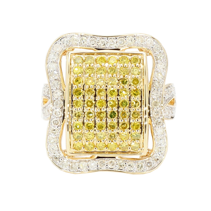 "MENS DIAMOND RING-  14K YELLOW GOLD| 6.8G| 2.00CT TDW| SIZE 7"""