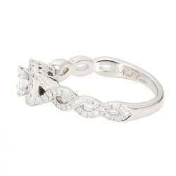 NEIL LANE DIAMOND ENGAGEMENT RING- 14K WHITE GOLD| 1.00CT TDW| SIZE 7.50""