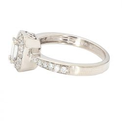 DIAMOND ENGAGEMENT RING- 14K WHITE GOLD| 0.75CT TDW| SIZE 7""