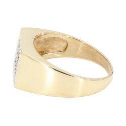 "MENS DIAMOND RING- 14K YELLOW GOLD| 5.8G| 0.60CT TDW| SIZE 11"""