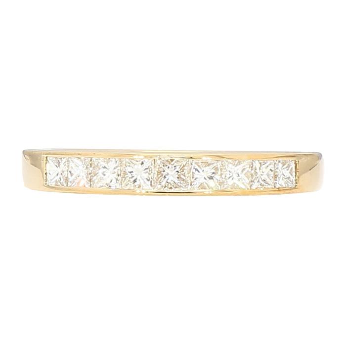 "DIAMOND WEDDING BAND- 14K YELLOW GOLD| 3.1G| 0.50CT TDW| SIZE 7"""