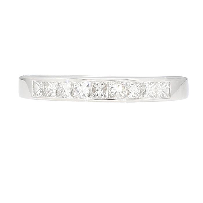 "DIAMOND WEDDING BAND- 14K WHITE GOLD| 3.0G| 0.50CT TDW| SIZE 7.25"""
