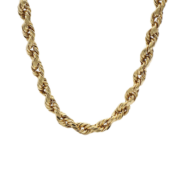 """ROPE NECKLACE- 10K YELLOW GOLD