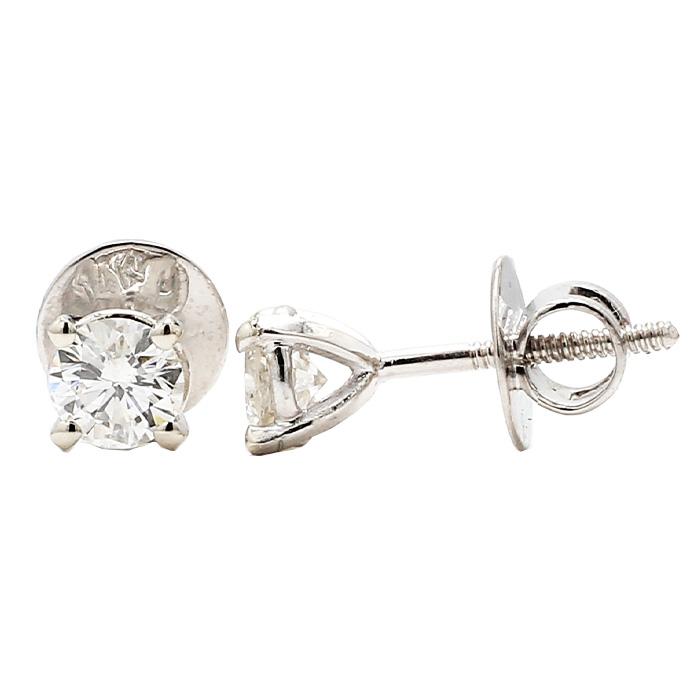 DIAMOND STUD EARRING- 14K GOLD| ROUND CUT 1.00 CT TDW