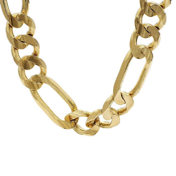FIGARO NECKLACE- 14K YELLOW GOLD| 90.5G| LENGTH 24"