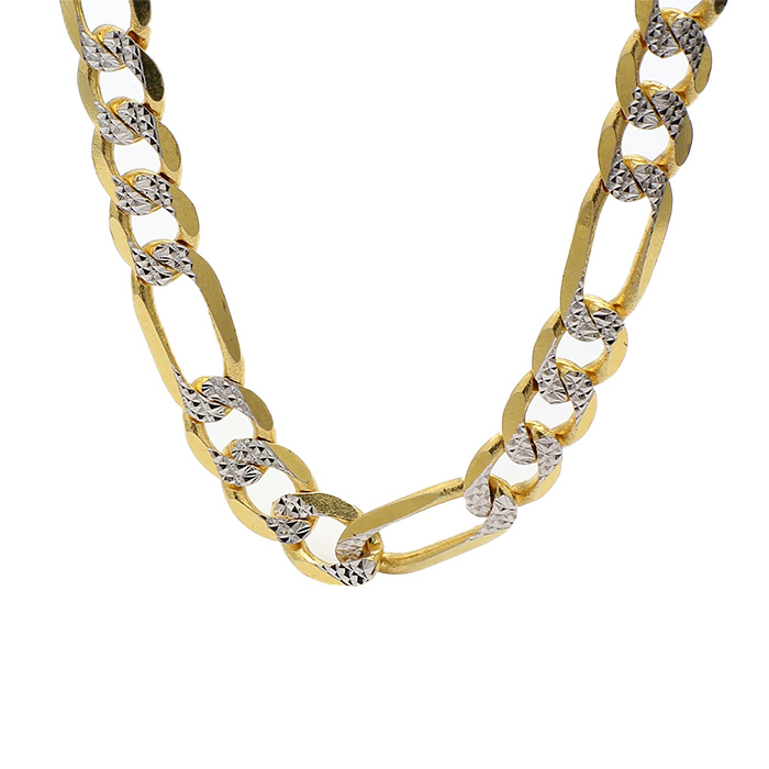 FIGARO NECKLACE- 14K YELLOW GOLD| 36.8G| LENGTH 24"