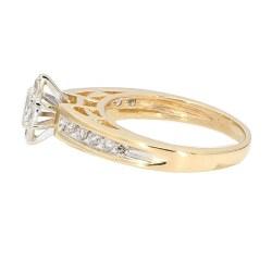 "DIAMOND ENGAGEMENT RING- 14K YELLOW GOLD| 0.55CT TDW| SIZE 6.50"""